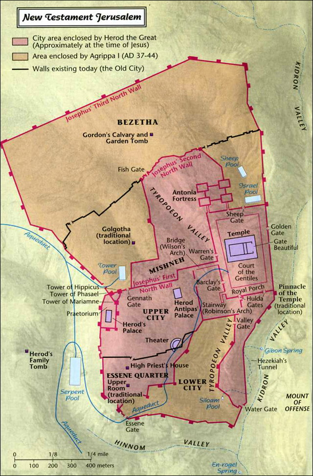 Map of New Testament Jerusalem